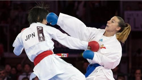 Alexandra Recchia of France won the women's under 50kg individual kumite title at the 2016 Karate Worlds
