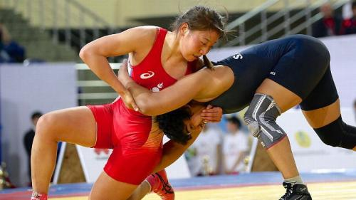 Sukhee Tserenchimed, Mongolia, world champion in Free Wrestling (60 kg)
