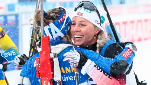 Biathlon Olympic gold-medal winner Tiril Eckhoff (Norway) and 2019 World Cup winner Dorothea Wierer (Italy)