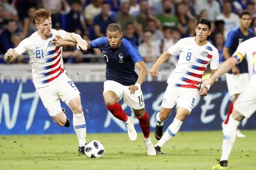 France and the USA drew 1-1 in a pre-Football World Cup friendly match last June