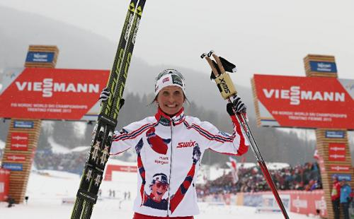 Marit Biorgen of Norway, 4 golds at the 2013 Cross Country Skiing Worlds