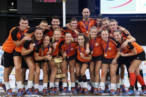 The Netherlands, winners of the 2015 Korfball World Championship