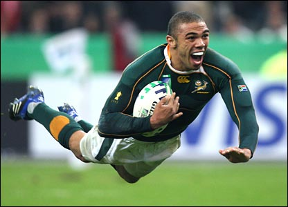 Bryan Habana of South Africa