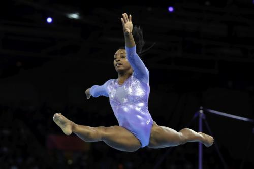 Simone Biles (USA) won 5 golds at the 2019 Artistic Gymnastics World Championships – pict.: Associated Press
