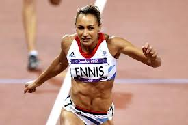 Jessica Ennis (GBR) rushes to Olympic gold