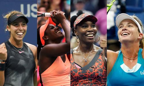 The four semi-finalists of the Women's US Open Tennis tournament, all from the USA!