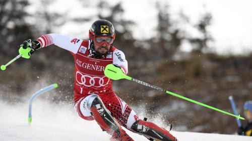 Marcel Hirscher (Austria) won slalom gold at the Alpine Skiing World Championships in Are, Sweden