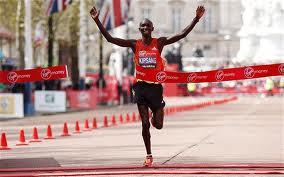 W. Kipsang of Kenya wins the 2012 London Marathon