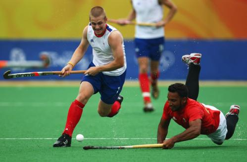Jackson of Team GB Hockey in action at the London Olympics