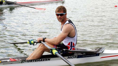 Kristoffer Brun of Norway, lightweight single-sculls bronze at the 2017 Rowing World Championships