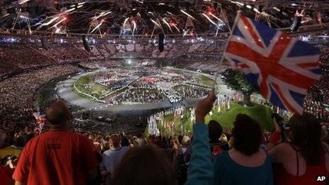The opening ceremony for the London 2012 Olympic Games