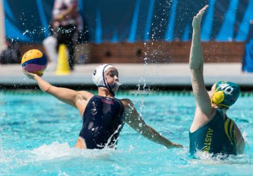 Maggie Steffens of the USA at the 2018 Water Polo World League Finals