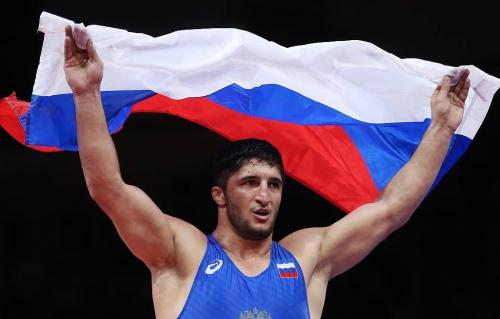 Abdulrashid Sadulaev (Russia) won gold at the Free Wrestling World Championship in the 97 kg category