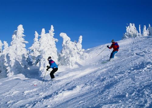 Powder skiing in Kitzbuehel, Austria