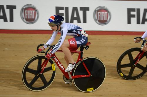 GBR's Laura Trott, gold medal winner in omnium and scratch races at Track Cycling Worlds