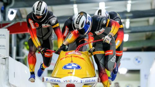 Germany won gold in the 4-man event at the 2021 Bobsleigh World Championships