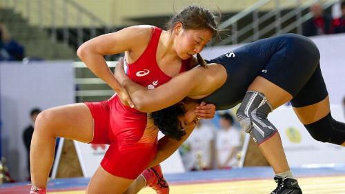 Sukhee Tserenchimed, Mongolia, world champion in Free Wrestling (60 kg)