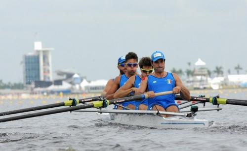 Italy's coxless 4 at the 2017 Rowing World Championships