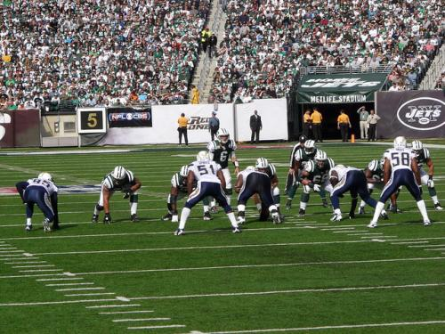 New York Jets offense on the field - CC BY 2.0 - credit: Marianne O'Leary