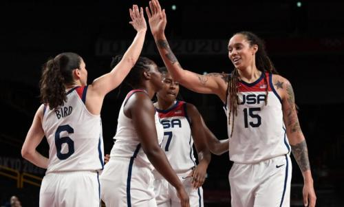 The USA won its 7th consecutive women's Basketball gold in Tokyo - pict.: Kareem Elgazzar USA TODAY Sports