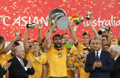 Australia lift the Men's Football Asian Cup for the first time in 2015