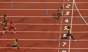 U. Bolt, Y. Blake and W. Weir of Jamaica dominate 200m