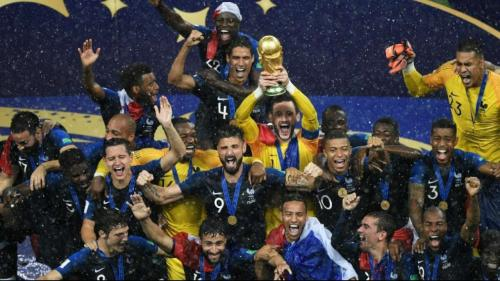 France won the men's FIFA Football World Cup in 2018