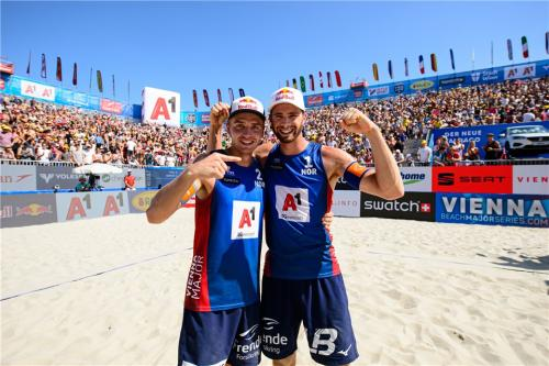 Anders Mol and Christian Sorum of Norway came third in the men's Beach Volleyball World Championships