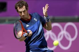 Andy Murray (GBR) shooting his way to Olympic gold
