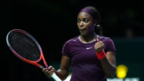 Sloane Stephens (USA), runner-up in the Tennis WTA Finals in October