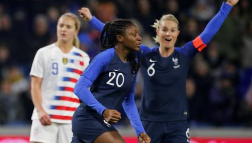 Kadidiatou Diani scored twice for France in a friendly win against USA (3-1) on 19 January 2019