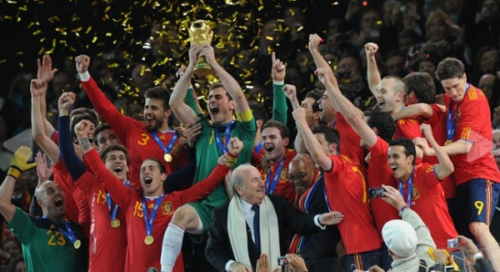 Spain wins 2010 FIFA World Cup