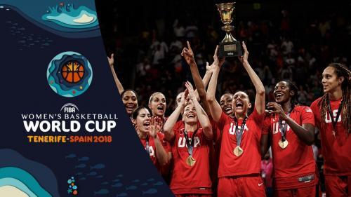 The USA Ladies celebrate winning the Basketball World Cup 2018
