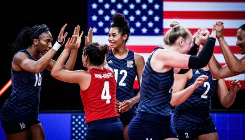 The USA women's Volleyball team won the 2021 Nations League